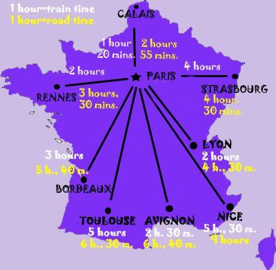 Mape Francuske Za Zeleznicu Pariz Atrakcije I Udaljenost