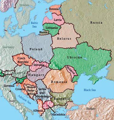 خرائط دول أوروبا الشرقية