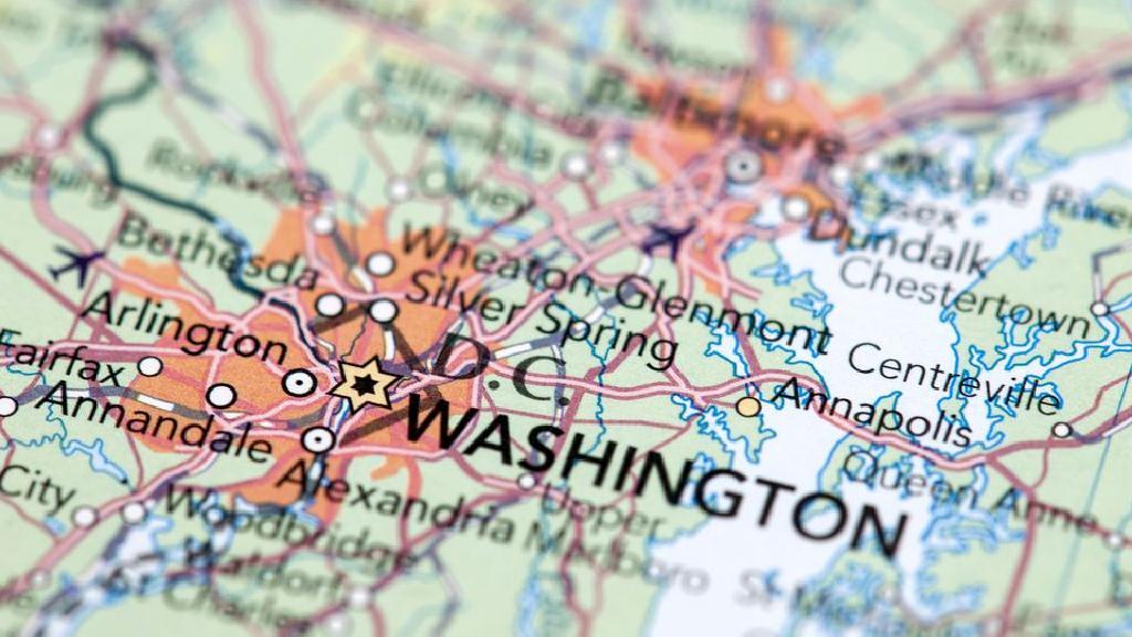 واشنطن العاصمة الرمز البريدي من جانب الحي