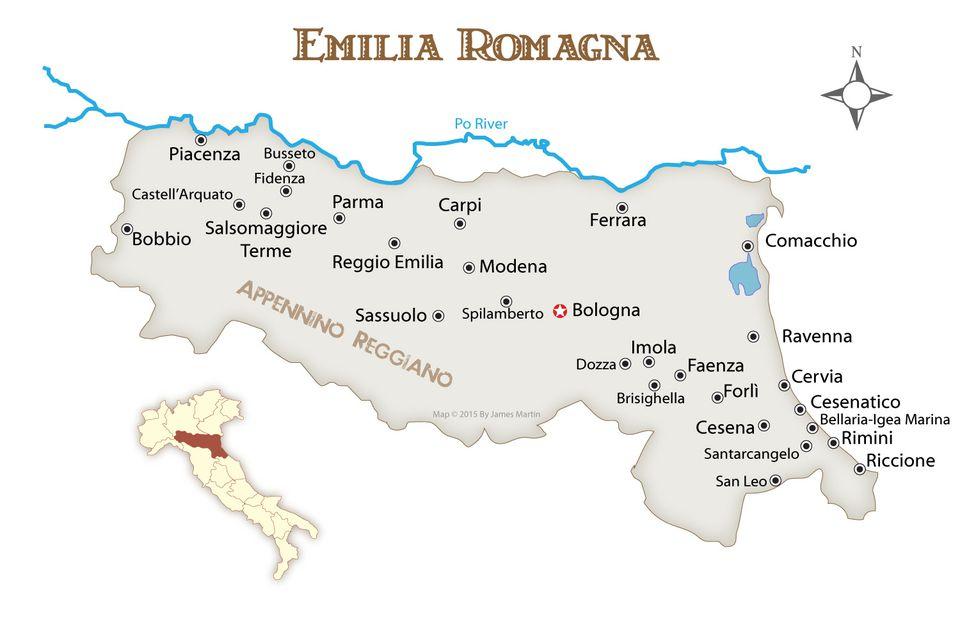 Emilia Romagna Gradovi I Turisticki Vodic Sjeverna Italija