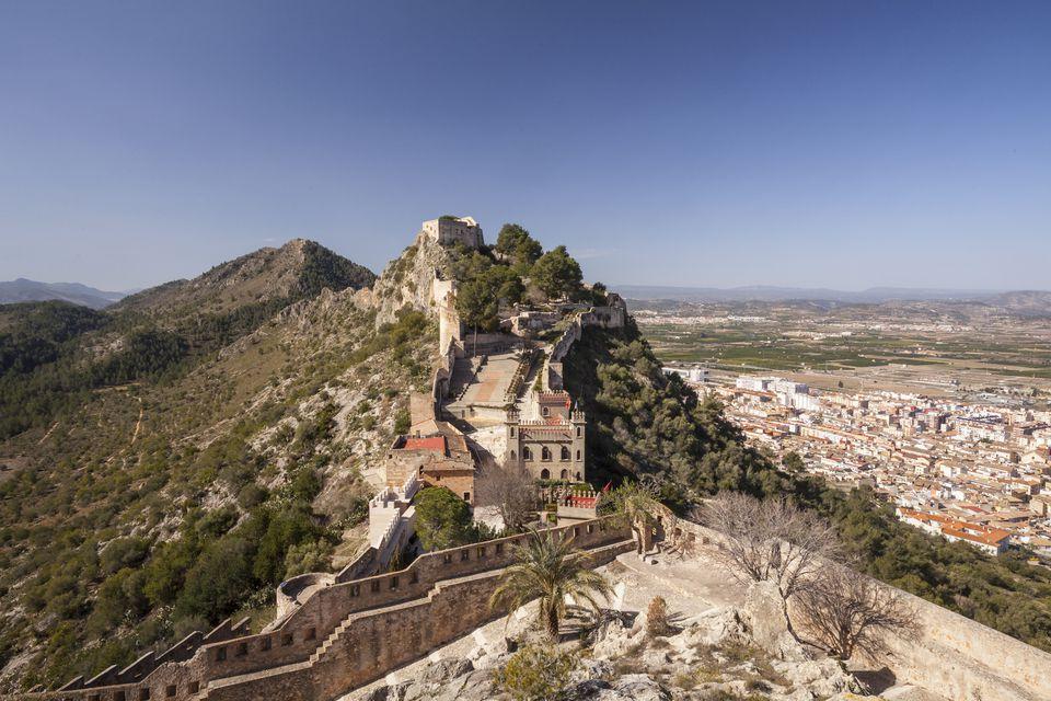 Stari zamak nad Xativa, Španija.