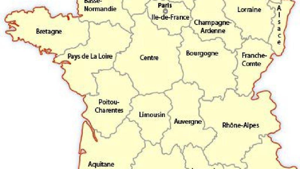 Harta Regională A Franței Europa De Călătorie