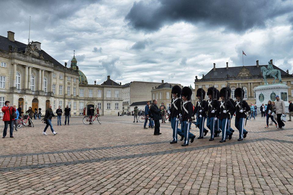 Rojet e Pallatit të Amalienborg në Kopenhagë