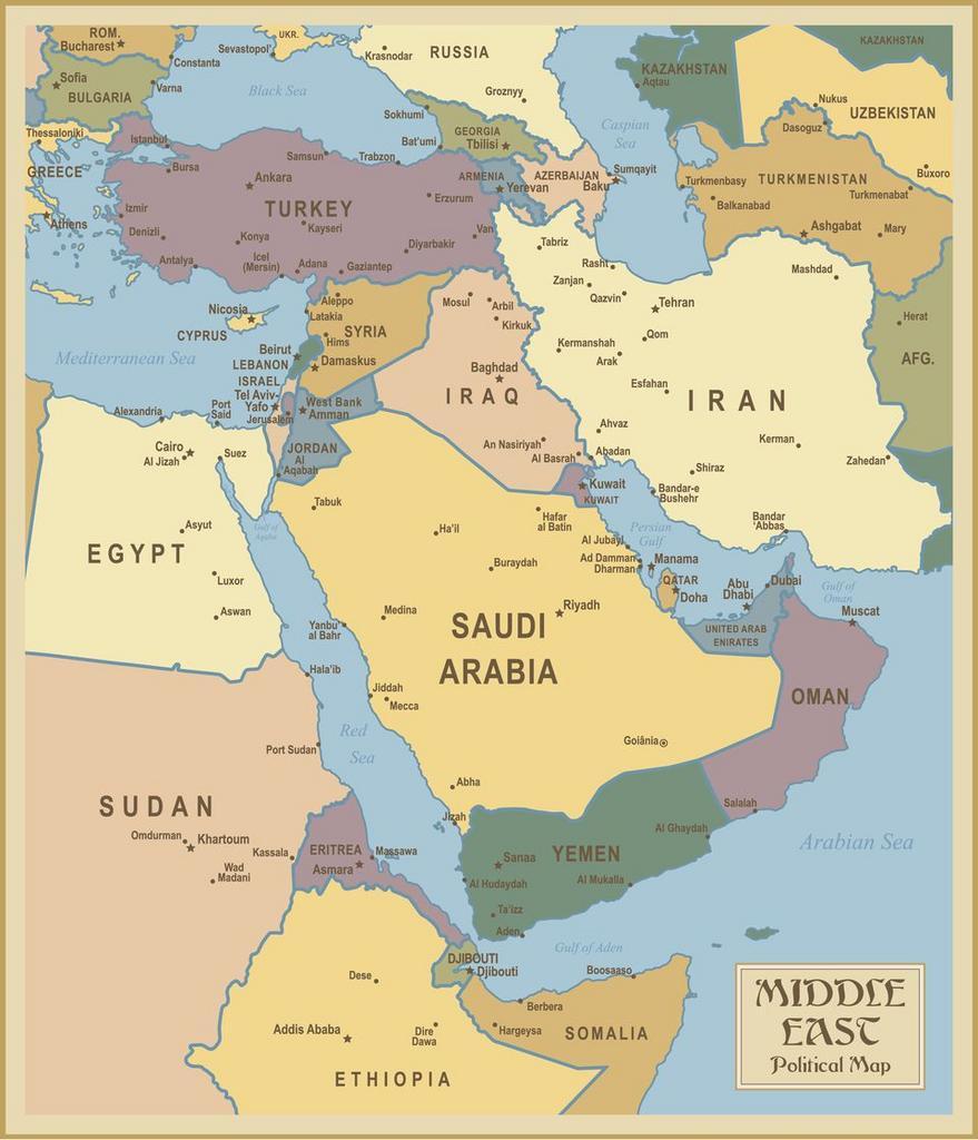 خرائط البحر الأحمر وجنوب غرب آسيا خرائط الشرق الأوسط